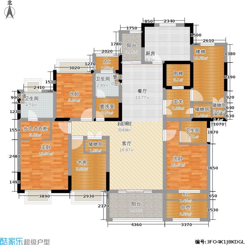 复地新都国际178.00㎡二期C1户型4室2厅