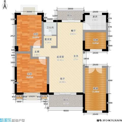 张家围17号花园2室0厅1卫1厨123.00㎡户型图