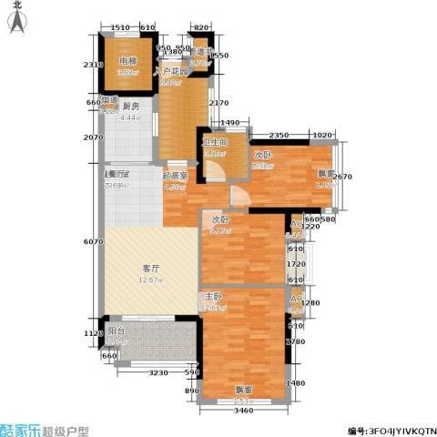 万科云山3室0厅1卫1厨95.00㎡户型图