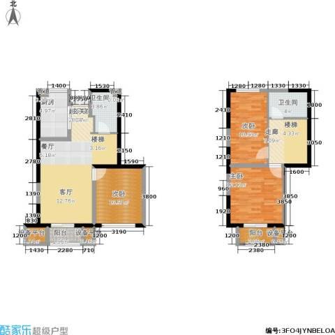 天山龍玺3室0厅2卫1厨106.00㎡户型图