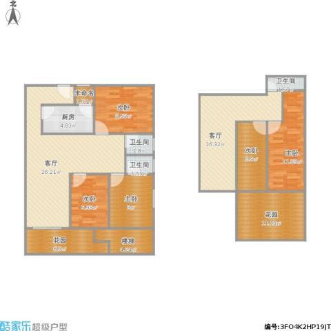 京城雅居别墅5室2厅3卫1厨161.00㎡户型图