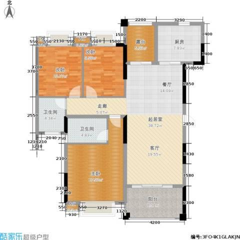 广场花园3室0厅2卫1厨154.00㎡户型图