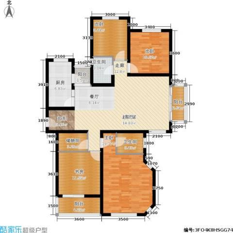 阳光水岸4室0厅2卫1厨162.00㎡户型图