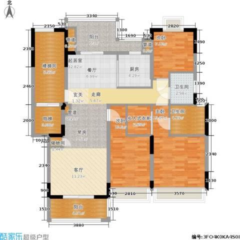 保集澜湾3室0厅2卫1厨123.00㎡户型图