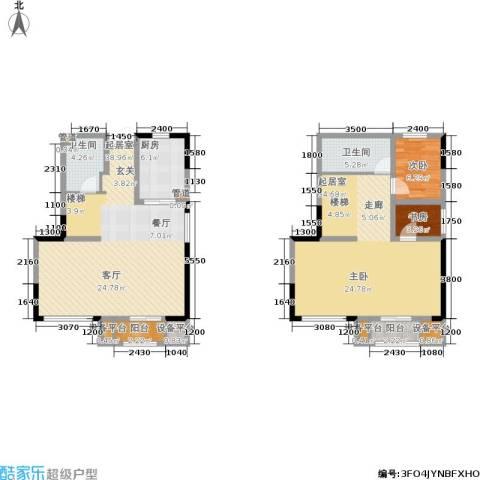 天山龍玺2室0厅2卫1厨117.00㎡户型图