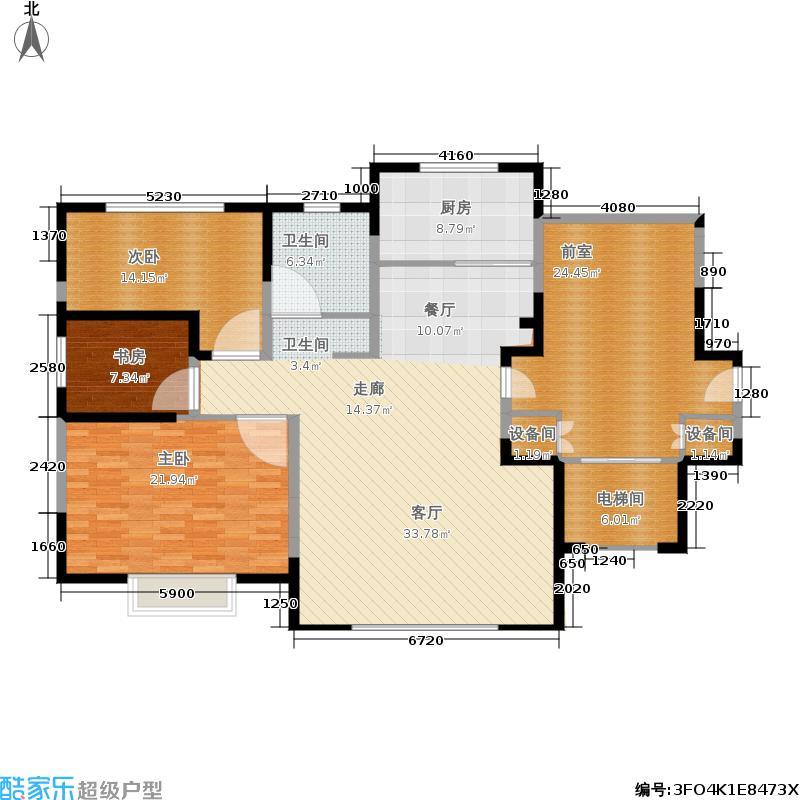 苏中公馆105.00㎡户型