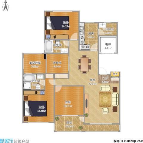 东城郡3室1厅2卫1厨183.00㎡户型图