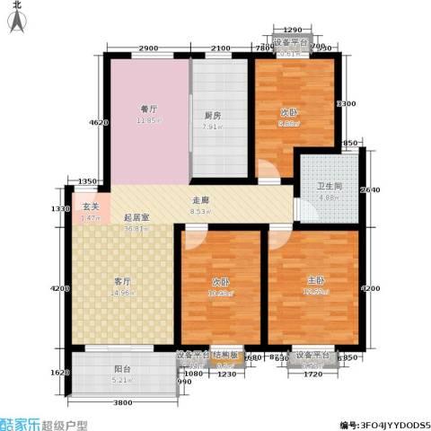 垠领城市街区3室0厅1卫1厨109.00㎡户型图