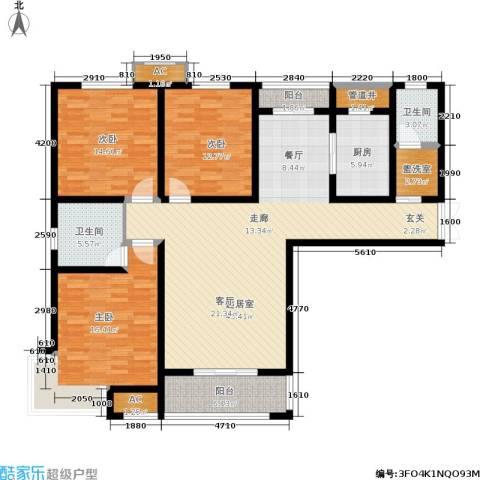 卓达上院3室0厅2卫1厨139.00㎡户型图