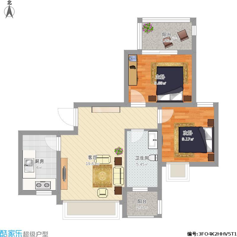 南环新村两房一厅