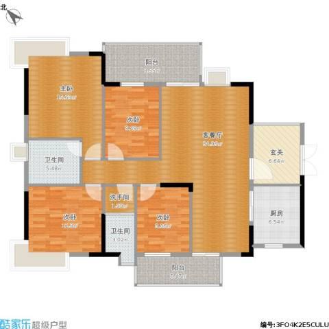 御景苑4室1厅2卫1厨163.00㎡户型图