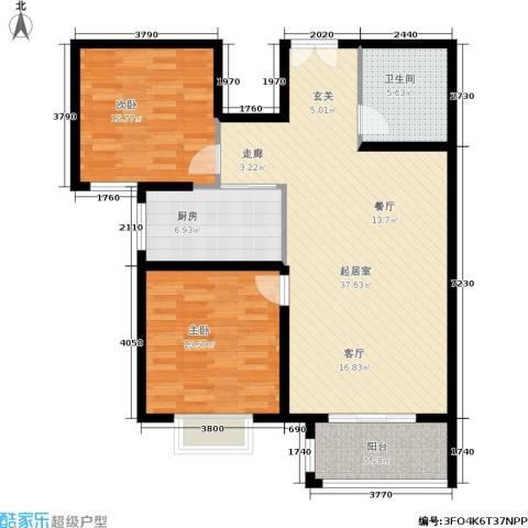 旺角花园2室0厅1卫1厨115.00㎡户型图