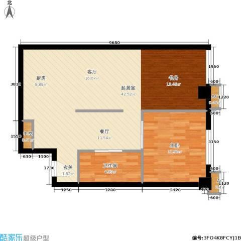 旺角花园1室0厅1卫0厨67.00㎡户型图