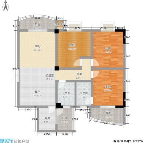 秀东尚座3室0厅2卫1厨152.00㎡户型图