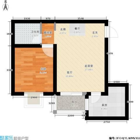 新福兴・面孔公社1室0厅1卫1厨54.00㎡户型图