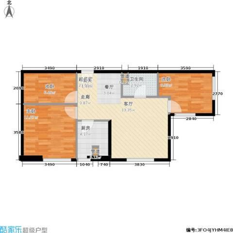 东北角艺术公寓3室0厅1卫1厨95.00㎡户型图
