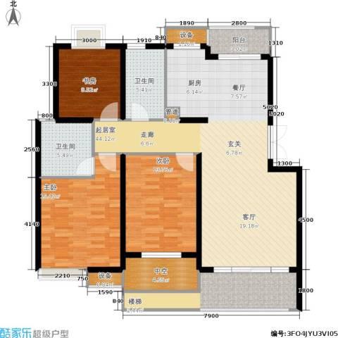 米兰风景3室0厅2卫0厨121.00㎡户型图