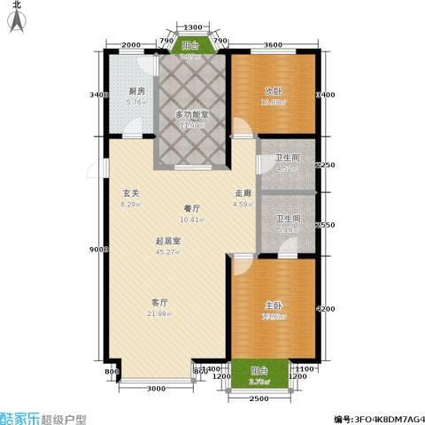 水恋晶城2室0厅2卫1厨140.00㎡户型图