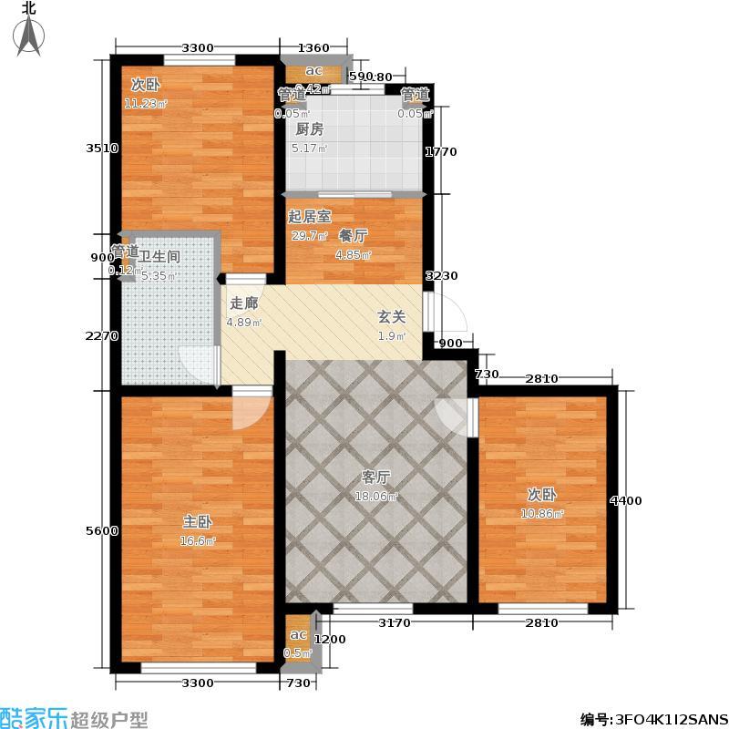 南岭国际102.00㎡二期A4户型2室2厅