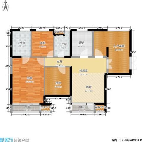 永泰枕流GOLF公寓3室0厅2卫1厨134.00㎡户型图