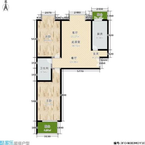 蓝山国际2室0厅1卫1厨115.00㎡户型图
