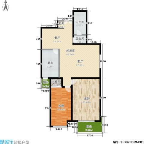 蓝山国际2室0厅2卫1厨120.00㎡户型图