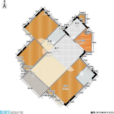 岭南雅苑1厅2卫1厨124.00㎡户型图
