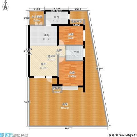 永泰枕流GOLF公寓2室0厅1卫1厨137.32㎡户型图