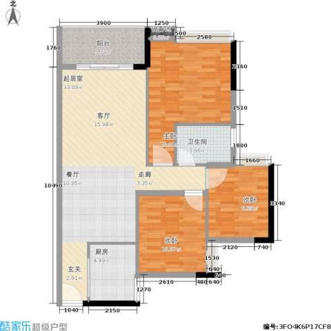 岭南雅苑3室0厅1卫1厨101.00㎡户型图