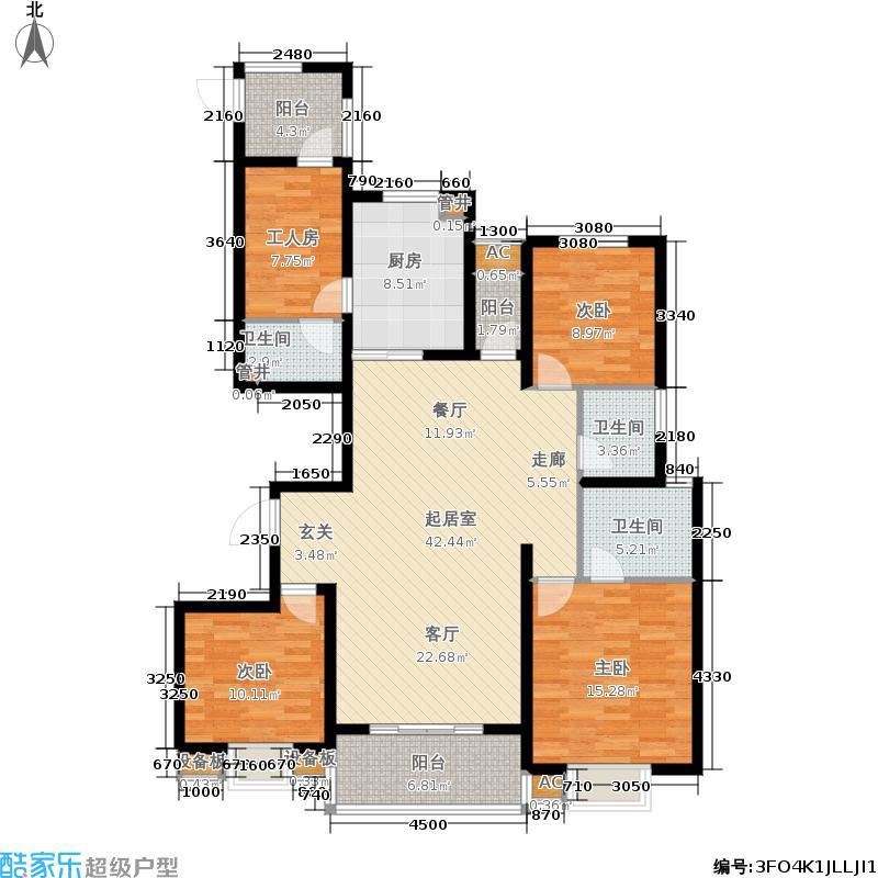 经建绅世郡137.00㎡A户型4室2厅