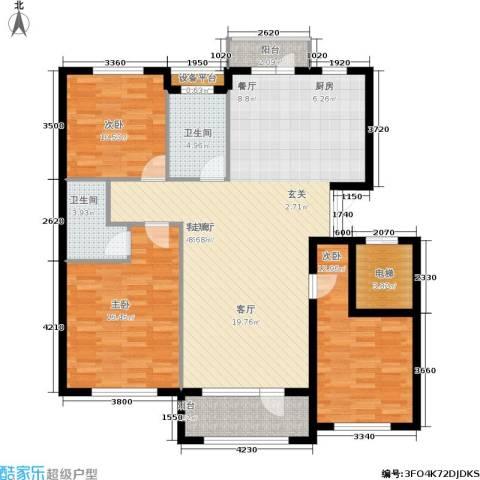 凯利花园3室1厅2卫0厨135.00㎡户型图