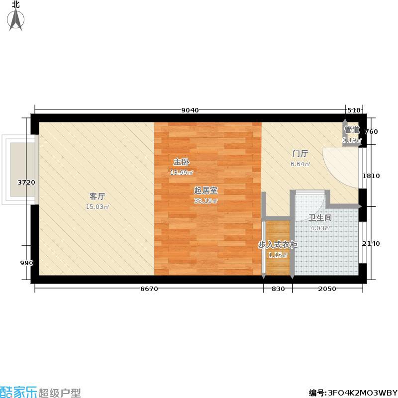 三墩新天地香港城45.00㎡A户型1室1厅1卫
