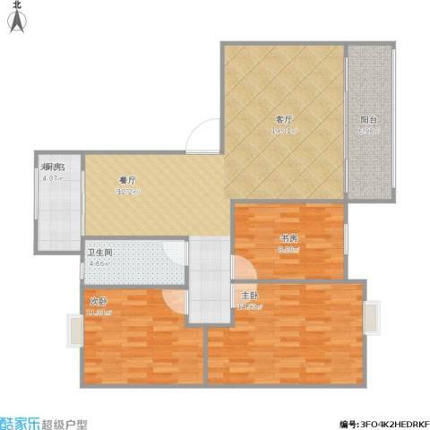 海韵嘉园3室1厅1卫1厨115.00㎡户型图