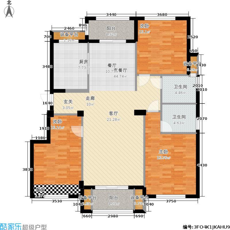 复地黄龙和山135.00㎡B3户型3室2厅