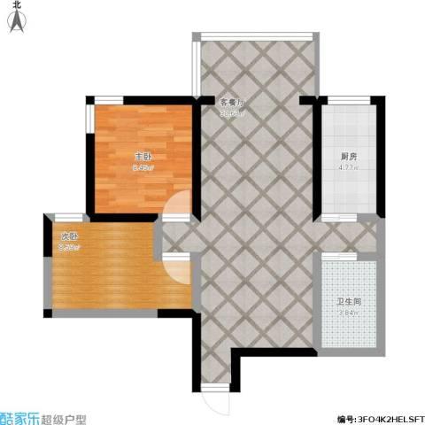 九如御2室1厅1卫1厨82.00㎡户型图