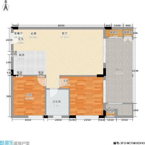 阳光半山森景2室1厅1卫0厨93.00㎡户型图