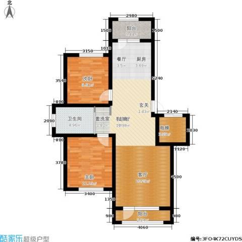 凯利花园2室1厅1卫0厨95.00㎡户型图