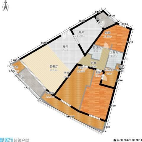 维多莉亚花园公寓3室1厅2卫1厨169.00㎡户型图