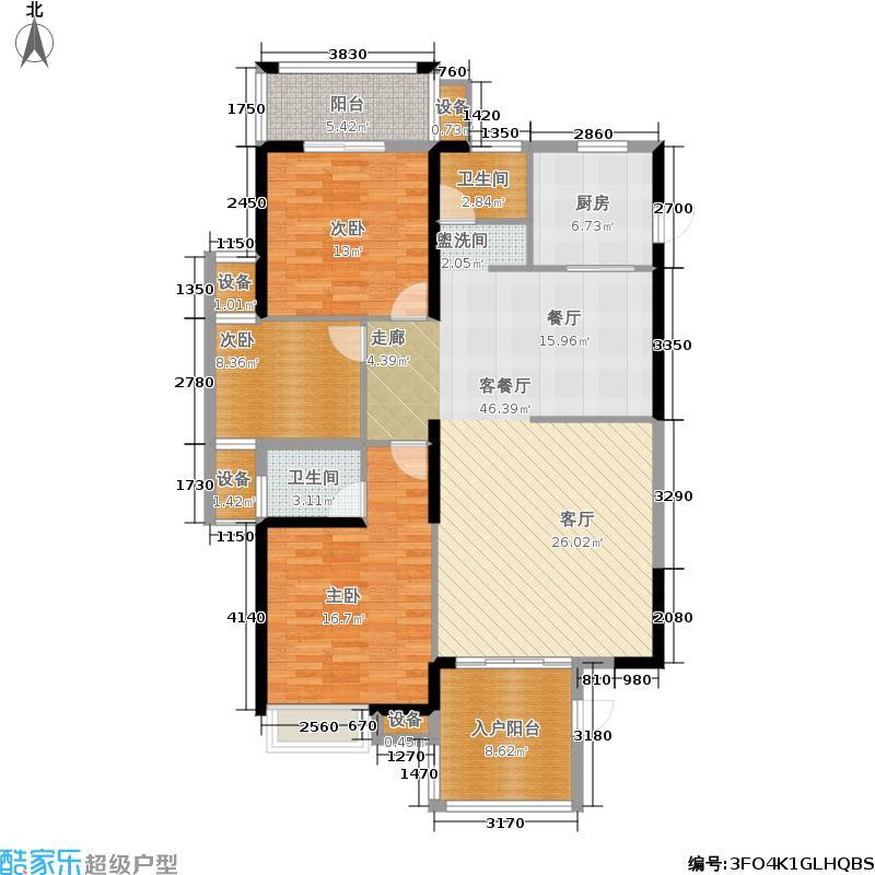 海博一品141.00㎡2栋4梯1号房户型