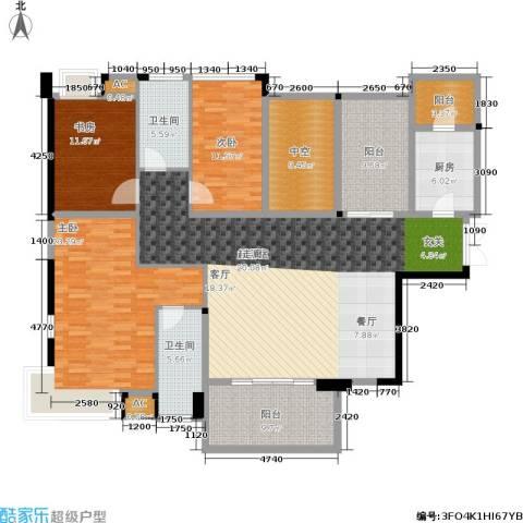 紫园3室0厅2卫1厨147.73㎡户型图