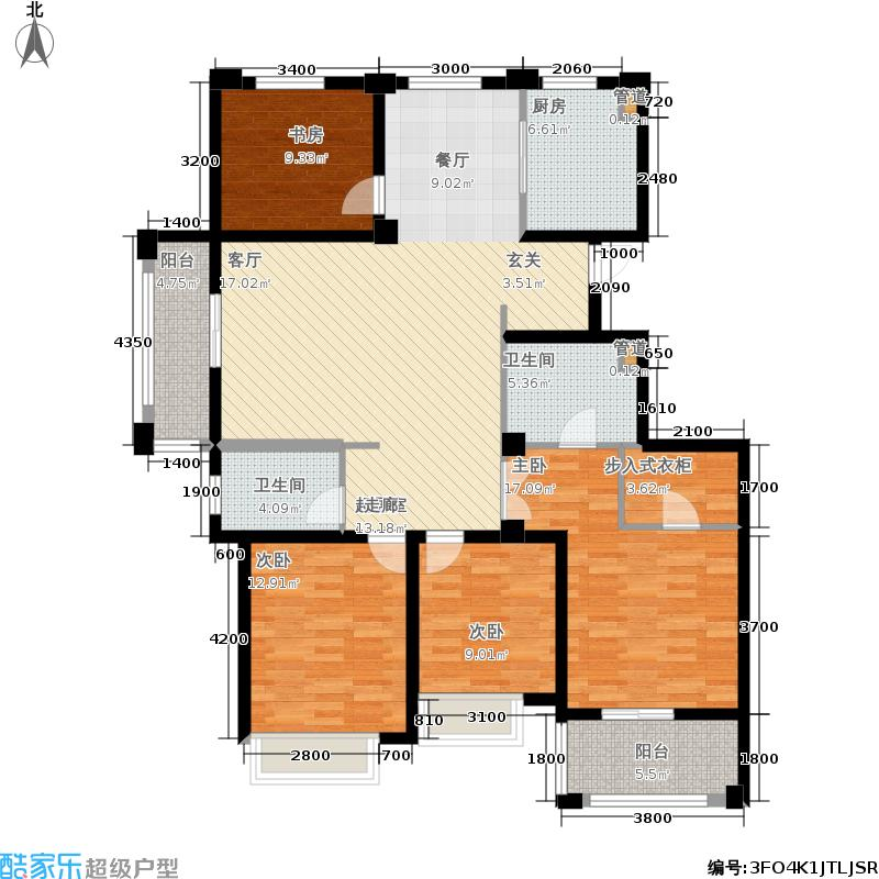 嘉凯城名城博园161.00㎡4A户型4室2厅