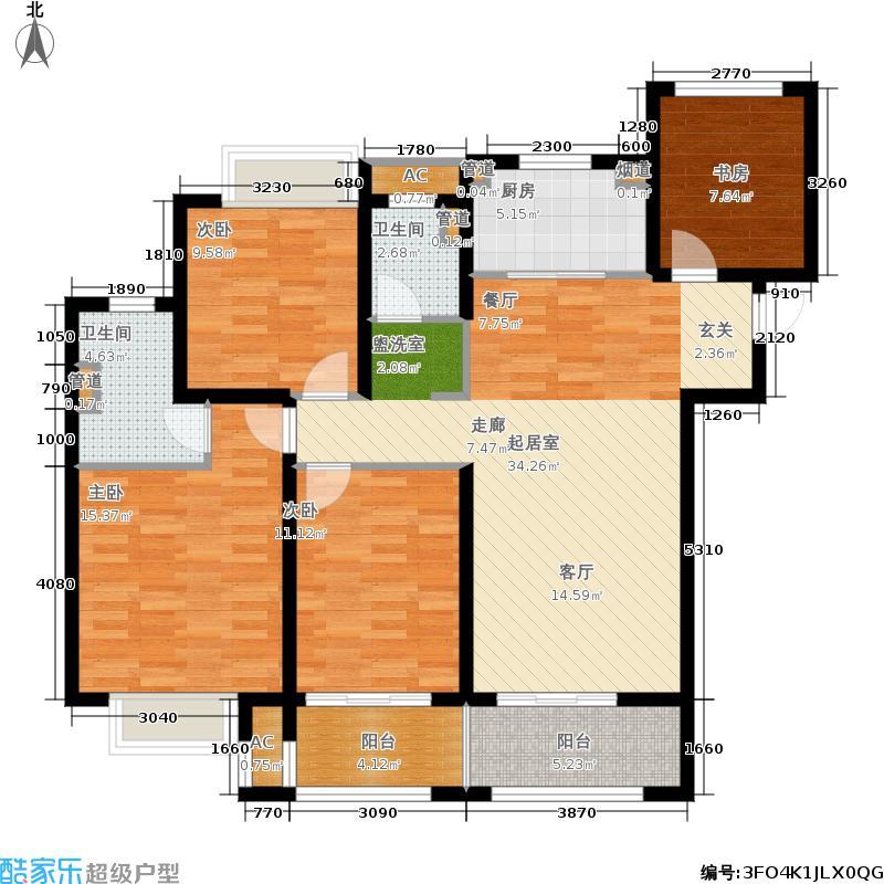 朗诗未来街区东园117.00㎡C户型4室2厅