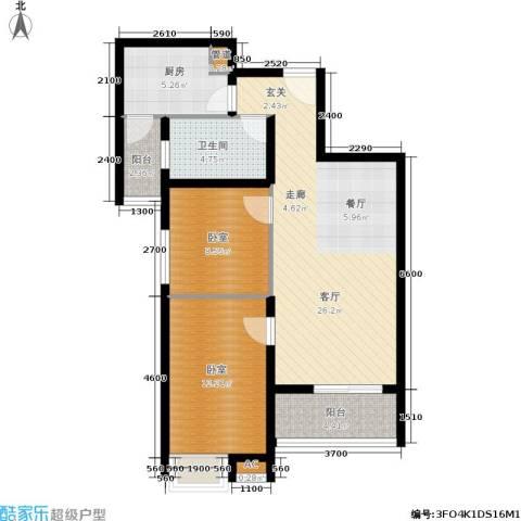 奥山星城1厅1卫1厨83.00㎡户型图