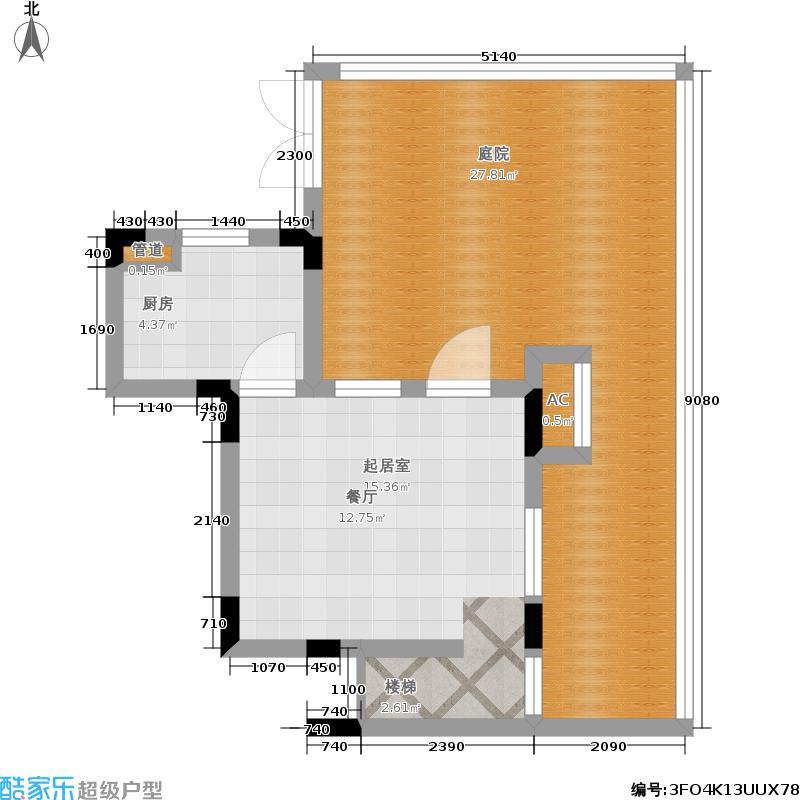 保利生态城43栋D2复式下层户型