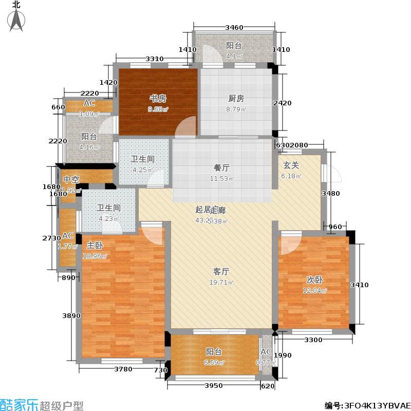 元茂欣苑138.00㎡多层电梯洋房H户型3室2厅