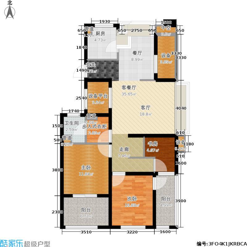 理想银泰城110.00㎡C1户型3室2厅