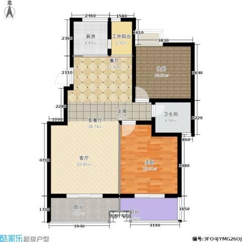 泰和御景豪庭2室1厅1卫1厨101.00㎡户型图
