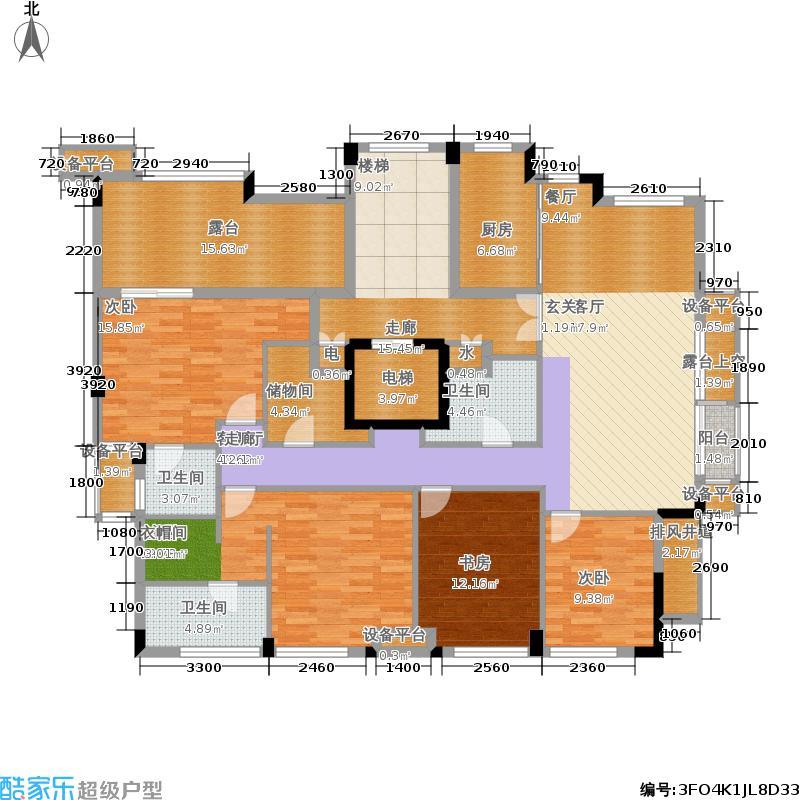 联合畔上居170.00㎡F户型4室2厅