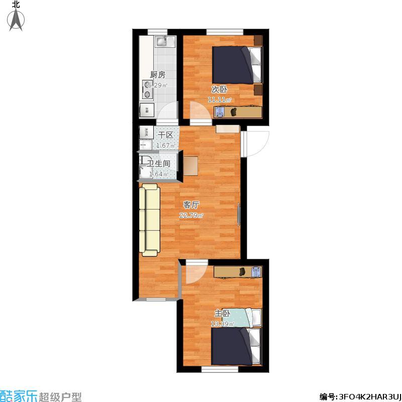 80平两室两厅
