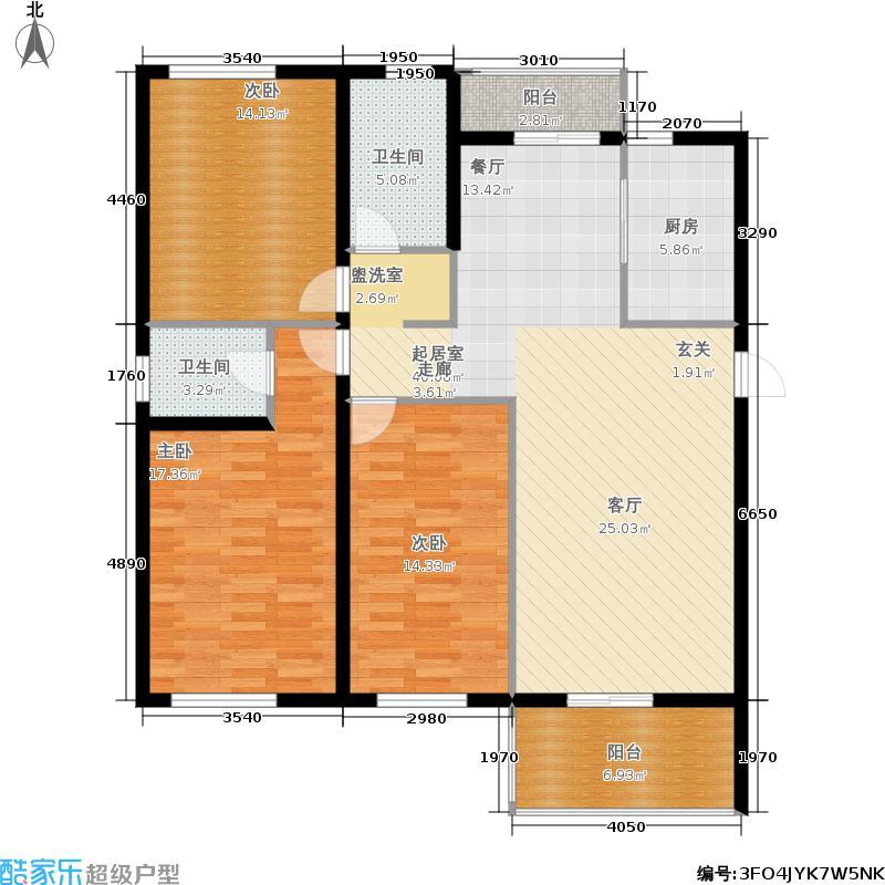 御华庭园146.90㎡1、2号楼A1户型
